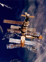 Space station MIR over NZ
